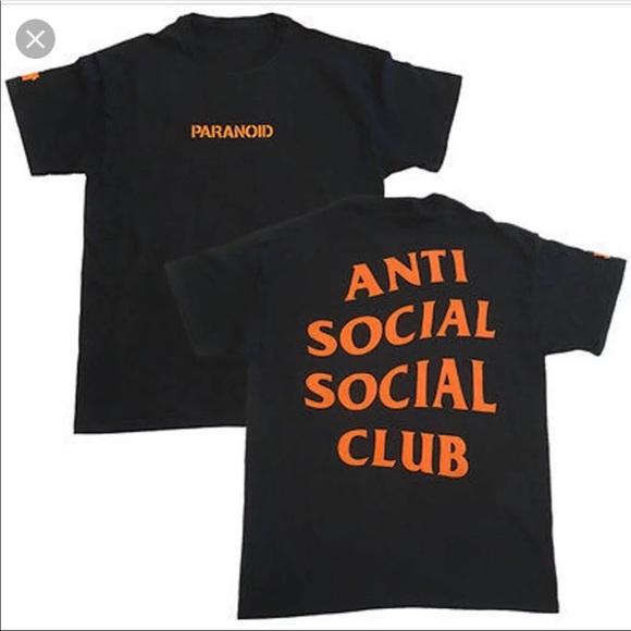 d5e0bea0 Anti Social Social Club Shirts | Anti Social Club Paranoid Tee ...